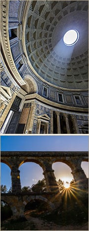 roman pantheon dome used pumice concrete
