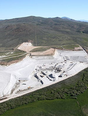 Aerial View of the Hess Pumice Mine in Southeast Idaho USA